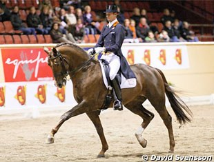 Hans Peter Minderhoud and the KWPN licensed stallion Tango (Jazz x Contango) finished second in the Intermediaire I