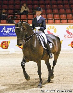 Louise Nathhorst on Visums, a 1996 born gelding by Vagners x Dolars and owned by Cecilia Blakey