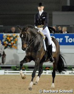 "Kathleen Keller and Florestan won the ""Preis der Zukunft"", a young riders competition held annually in Munster"