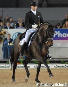 Wolfram Wittig on his home bred Berkeley W (by Breitling W)