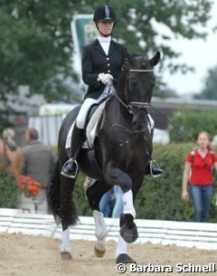 Eva Möller and Soliere won the Hanoverian Young Horse Championships (4-year old stallions)
