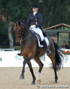 Andrea Timpe on Rosselini G in the Piaff Forderpreis qualifier