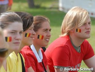Belgian fans rooting for Vicky Smits