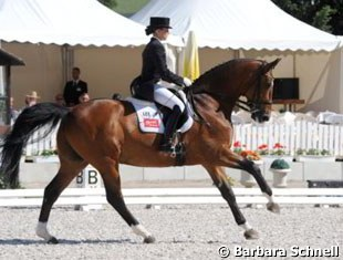 Kristina Sprehe and Royal Flash in the Piaff Forderpreis class