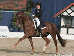 Last year's winners Bianca Kasselmann and the Oldenburg gelding Forum Zwei (by Full Speed x Parcours) finished fifth in the Special