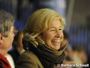 Friederike Hahn's mother was all smiles on her daughter's return to the show ring