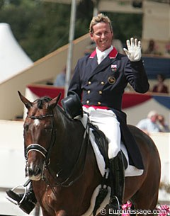 Carl Hester and Liebling II, always a favourite of the Brits