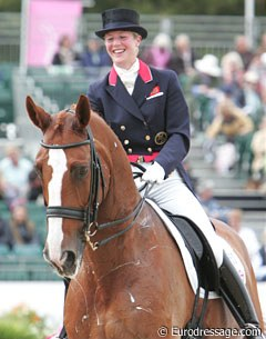 Bechtolsheimer happy about her Grand Prix ride at the 2009 European Championships