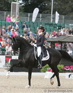 Anky van Grunsven and Salinero in the Grand Prix at the 2009 European Championships