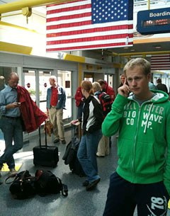 Matthias Alexander Rath and the German team in the airport for the flight to WEG