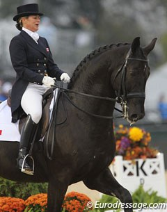 Canadian Victoria Winter rode Neil and Cindy Ishoy's Baden Wurttemberger gelding Proton to 66.681%