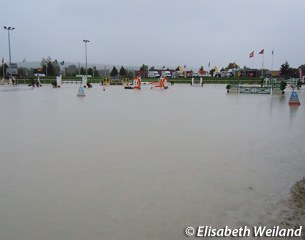 The show jumping arena became Lake Avenches