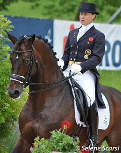 Emma Hindle made her come back with the 18-year old Hanoverian stallion Lancet