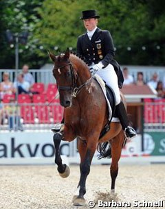 Isabell Werth and Satchmo won the national Grand Prix. Munster will be one of the horse's last shows as Werth has announced that Stuttgart will be his retirement event in November