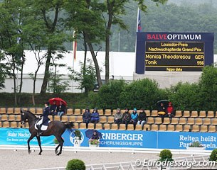 The Balve show ring on Friday: rain and empty chairs. It was different on the weekend: crowds filled the stands despite the bad weather