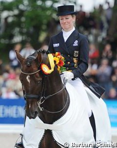 Helen Langehanenberg and Damon Hill, 2012 German Dressage Champions