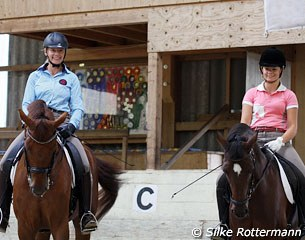 Marcela on Lazander and daughter Natascha on Nice Lilli