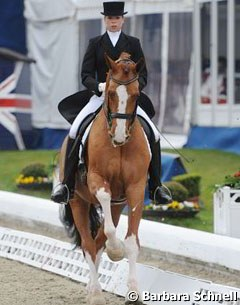 Kirsten Sieber and Charly finished second in the U25 Short Grand Prix with 70.69%