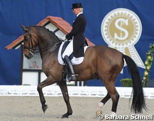 Brigitte Wittig and Balmoral in the Young Horse Grand Prix