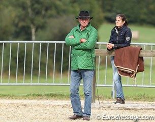 Ruoste's horse owner Joachim Arl and his assistant rider Julia Setala