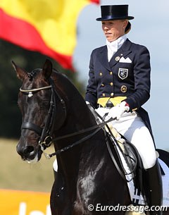 Luxembourgh based Finnish rider Terhi Stegars on the Trakehner stallion Lord Luciano (by Enrico Caruso)