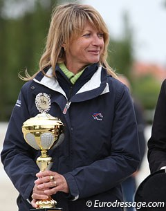 French Young Riders' chef d'equipe Muriel Leonardi