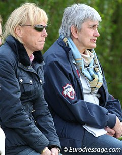 Trainer Arlette Holsters and Belgian chef d'equipe Laurence van Doorslaer