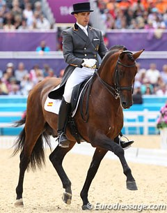 Spanish Jose Daniel Martin Dockx and Grandioso stepped in for Beatriz Ferrer-Salat who had to withdraw her Delgado due to an injury. The pair scored 69.043% at their Olympic debut