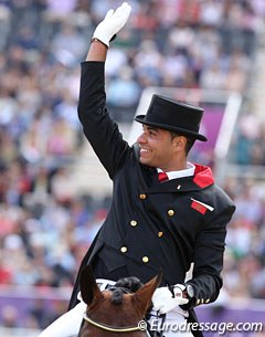 Yessin Rahmouni, the first Moroccan ever to compete at the Olympics in dressage