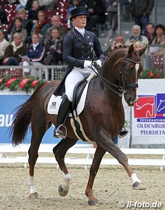 Australian Hayley Beresford rode a personal best score in the Special (72.467%) on her new ride, Bev Edwards' Jaybee Alabaster.
