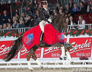 Victoria Max-Theurer and Blind Date won the Grand Prix and Special at the 2012 CDI Oldenburg