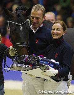 Johannes and Ines Westendarp with their reserve licensing champion Sansibar (by Sir Donnerhall II x Don Schufro)