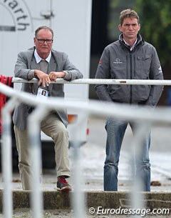 Ulf Helgstrand, president of the Danish Equestrian Federation and father to Andreas, and Danish Team trainer Rudolf Zeilinger