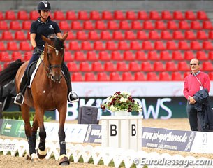 Italian O-judge Enzo Truppa coaching Ester Soldi on Harmonia