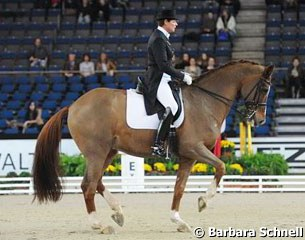 Ulla Salzgeber and Herzruf's Erbe were second in the German Masters