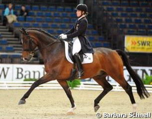 Isabell Werth and El Santo were the runners-up in the Grand Prix Kur CDI-W