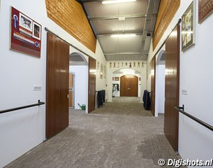 The stable corridor, lots of room, air and light in the barn building