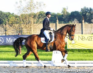 Hungarian young rider Barnabas Gemes on Ballentino