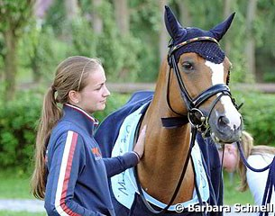 A reunion in Hagen: former Dutch pony team member Rosalie with her 2012 European Championship bronze medal winning ride Paso Double, now owned and ridden by Semmieke Rothenberger