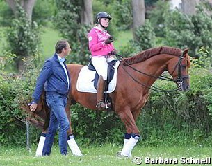 Dieter Laugks with his student Diana Porsche on Eloy