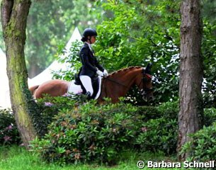 Daphne van Peperstraten on her new pony Wonderful Girl (by Wimbledon)