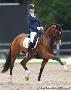 Dutch pony rider Esmee Donkers on her junior horse Zaffier