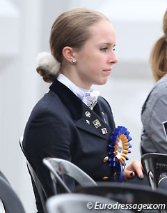 Mathilde Hannell with her ribbon