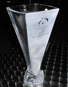 The trophy for the CDI Orange, which was named Event of Year at 2014 Australian Sport Achievement Awards
