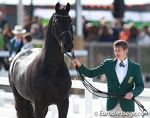 South Africa's Chere Burger with the Friesian Anders