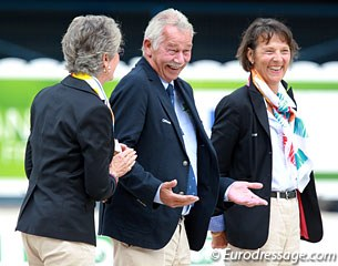 FEI Judge General Stephen Clarke gets a lot of applause from the crowds during the prize giving ceremony