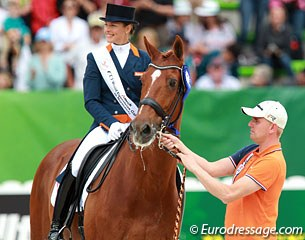 Adelinde Cornelissen on Parzival and her boyfriend Sjaak van der Lei as handler