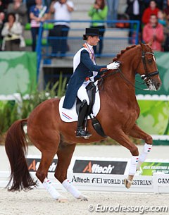 The kur bronze medal winning horse Parzival refused to do a victory lap