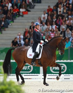 Carl Hester is an absolute master at making a not so gifted horse look great. The long and slow Nip Tuck shone brightly in the freestyle as Hester makes it all look so easy.