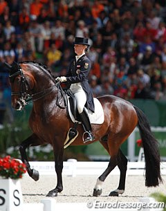 Victoria Max-Theurer had a very strong ride on Augustin OLD and finished sixth with a personal best score